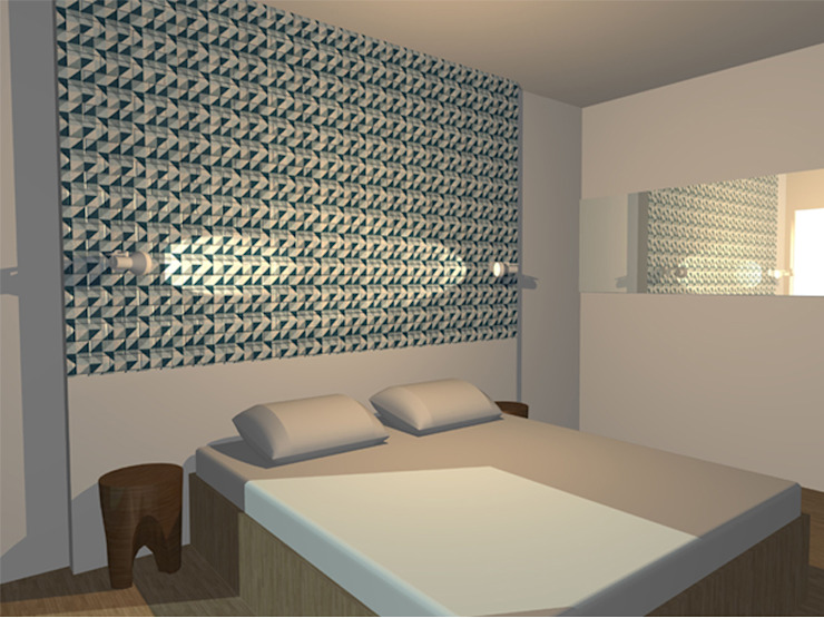 Appartement 70m2 Chambre scandinave par Arnaud Bouvier Design Scandinave