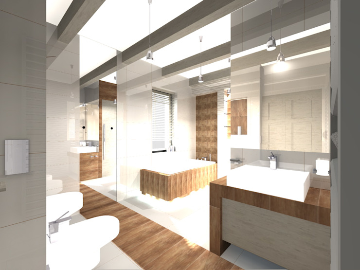 Modern bathroom by STUDIO BB ARCHITEKCI TOMASZ BRADECKI Modern