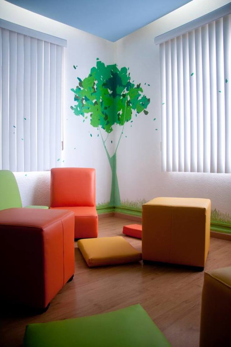 Colgate Palmolive Creative Offices-Mexico Salones modernos de Elías Arquitectura Moderno