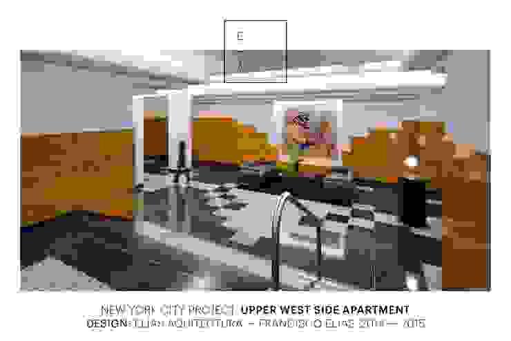 Uppern West Side Apartment-Manhatthan NYC Estudios y despachos modernos de Elías Arquitectura Moderno