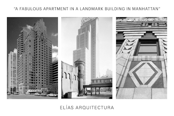 Uppern West Side Apartment-Manhatthan NYC Casas modernas de Elías Arquitectura Moderno