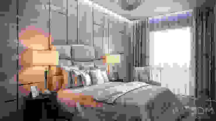 Квартира-студия в стиле Хай-тек Спальня в стиле минимализм от студия визуализации и дизайна интерьера '3dm2' Минимализм