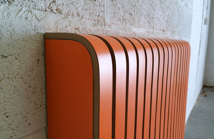 Orange Laminate Radiator Cover: minimalist  by Cool Radiators? It's Covered!, Minimalist