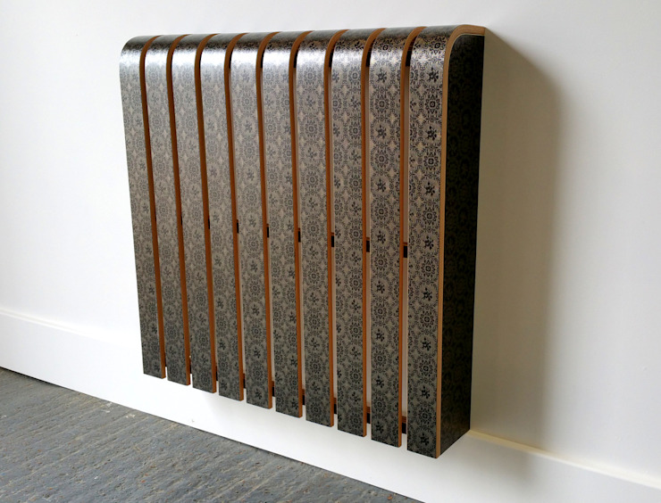 Fabric Covered Radiator Cover: modern  by Cool Radiators? It's Covered!, Modern Textile Amber/Gold