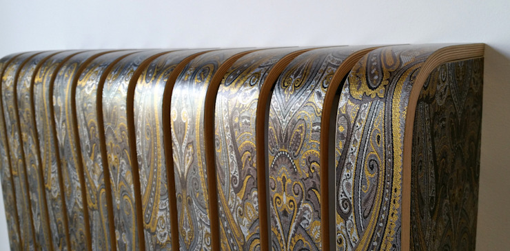 Fabric Covered Radiator Cover: eclectic  by Cool Radiators? It's Covered!, Eclectic Textile Amber/Gold