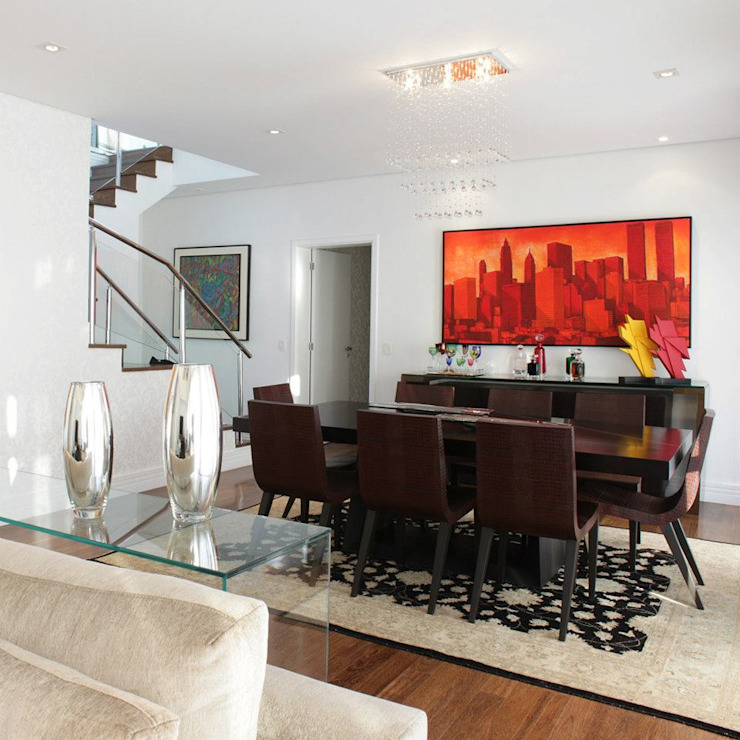 Livings Elegantes Salas de jantar minimalistas por Vera Teixeira design de interiores Minimalista