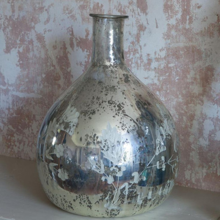Antique Silver Leaf Vase Dust 家居用品配件與裝飾品 Metallic/Silver
