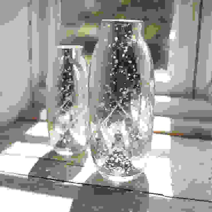 Antique Silver Etched Vase Dust HogarAccesorios y decoración Metálico/Plateado