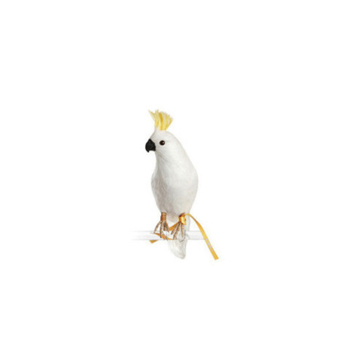 Artificial Cockatoo small Dust 家居用品配件與裝飾品 羽毛 White