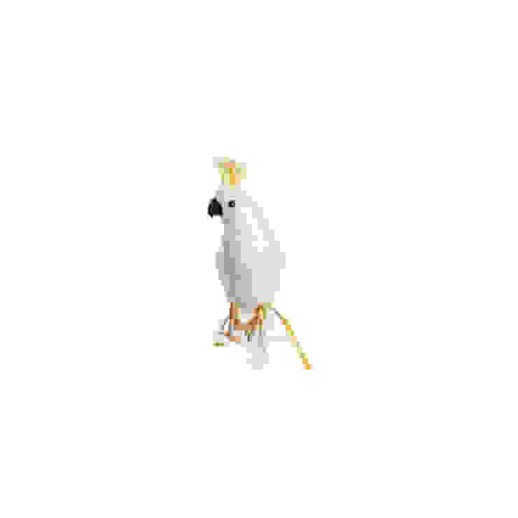 Artificial Cockatoo small Dust HogarAccesorios y decoración Plumas Blanco