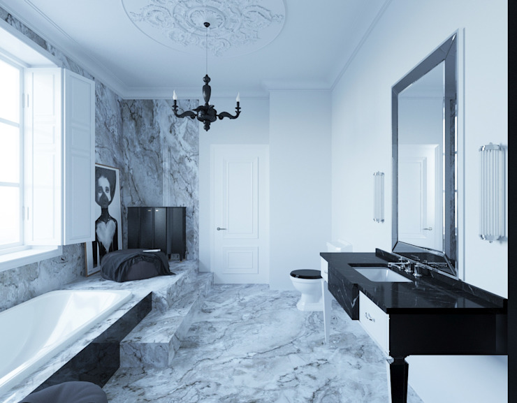 Eclectic style bathroom by Dara Design Eclectic Marble