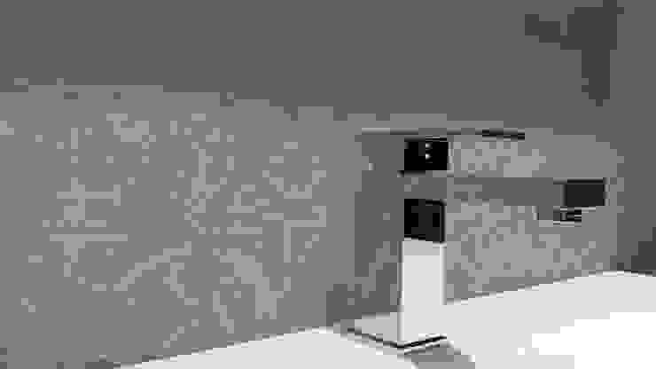 Spa und Bäder Fugenlose Mieneralischer putz Ulrich holz -Baddesign Mediterrane Badezimmer Grau