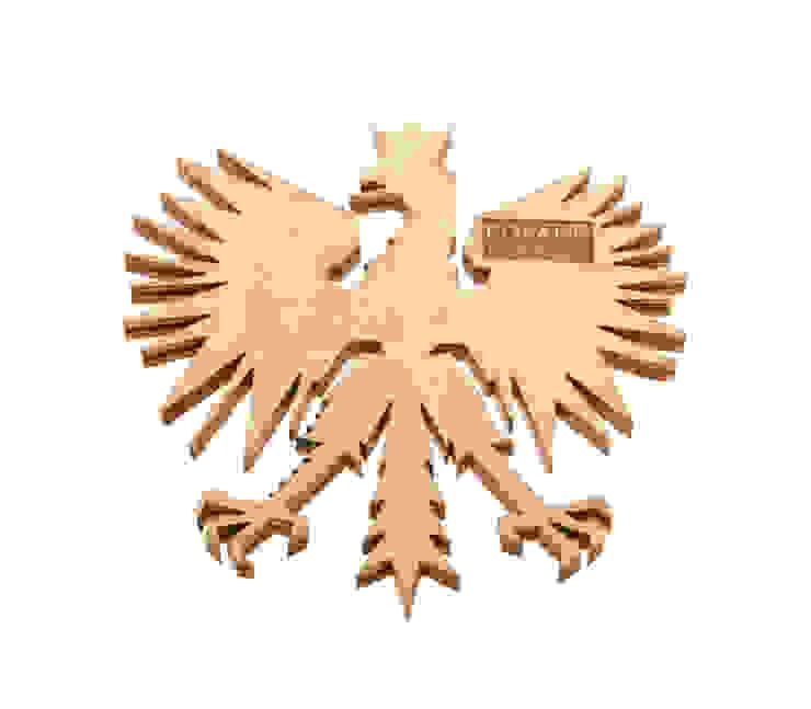 Poland Is Crazy 0301 orzeł od POLAND IS CRAZY Nowoczesny Sklejka