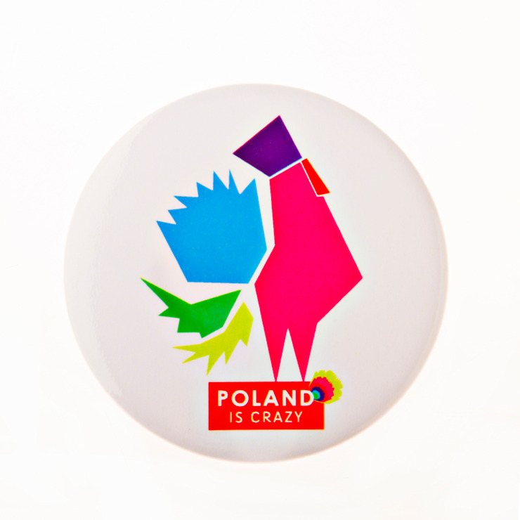 Poland Is Crazy 0402 kogut od POLAND IS CRAZY Nowoczesny Matal