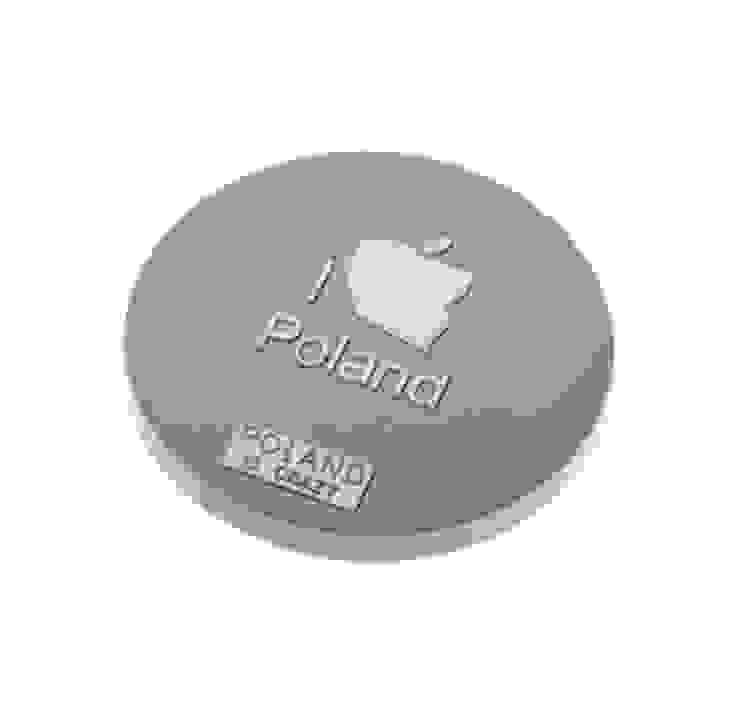 Poland Is Crazy 0501 I love poland_szary od POLAND IS CRAZY Nowoczesny Plastik