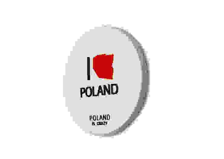 Poland Is Crazy 0502 I love poland_biały od POLAND IS CRAZY Nowoczesny Plastik