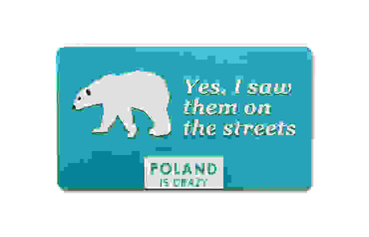 Poland Is Crazy 0803 Miś od POLAND IS CRAZY Nowoczesny Plastik