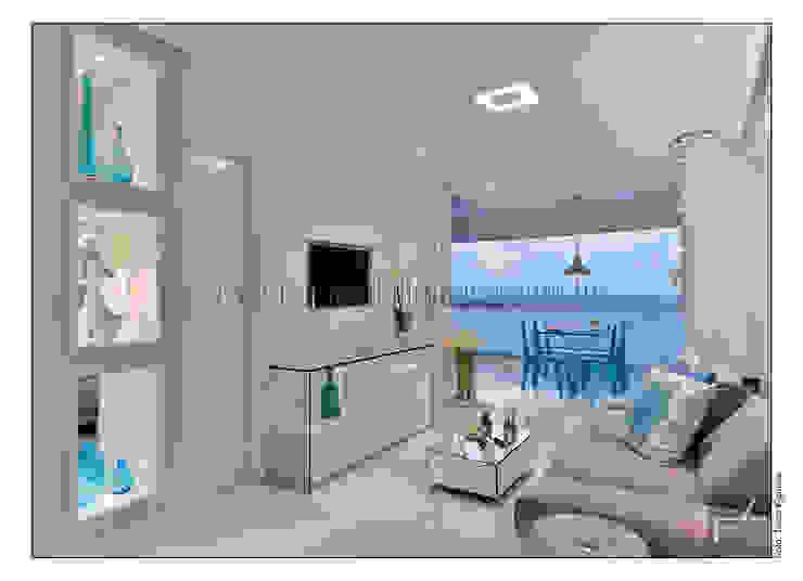 PITUBA PRIVILLEGE Salas de estar modernas por FERNANDA LIMA Moderno