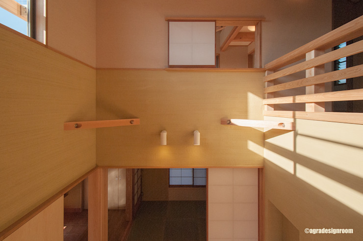 アグラ設計室一級建築士事務所 agra design room Living room Wood