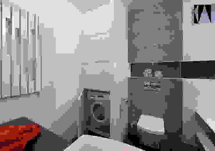 Łazienka w 3 kolorach Minimalistyczna łazienka od Katarzyna Wnęk Minimalistyczny