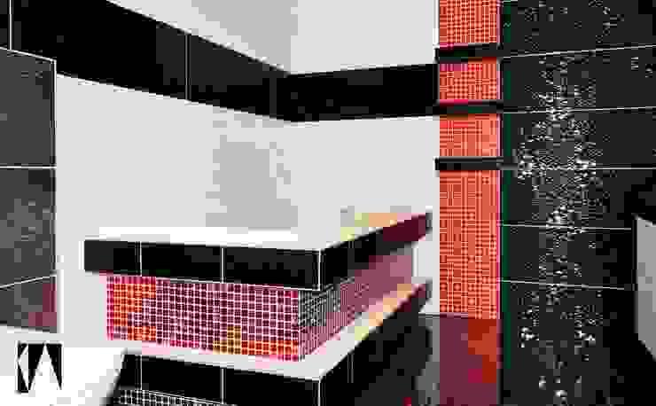 Łazienka z łuski smoka Minimalistyczna łazienka od Katarzyna Wnęk Minimalistyczny