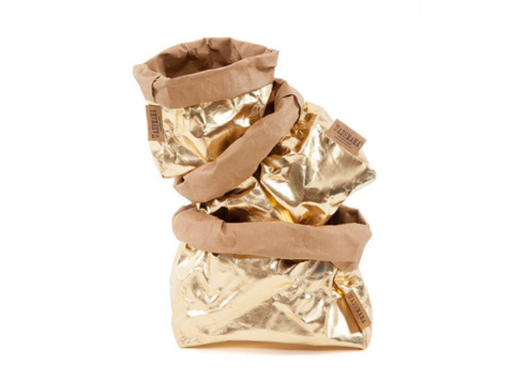 Uashmama - Metallic Bags Dust 家居用品儲藏櫃 Amber/Gold