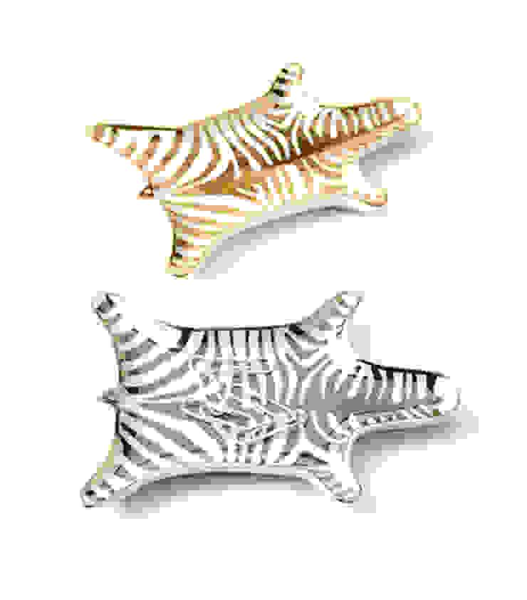 Jonathan Adler zebra coin dish Dust 家居用品配件與裝飾品 陶器 Amber/Gold
