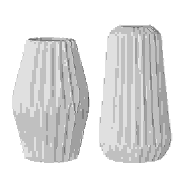 Mint Fluted Porcelain Vases Dust HogarAccesorios y decoración Porcelana Verde