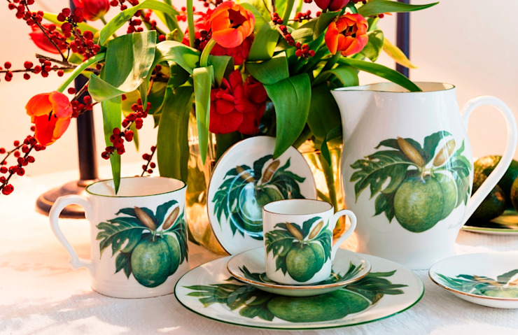 Breadfruit fine bone china collection: tropical  by Jenny Mein Designs, Tropical Ceramic