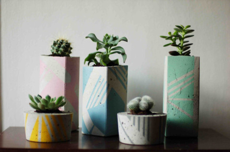 Ail + El Concrete Planters Dust HouseholdPlants & accessories Multicolored