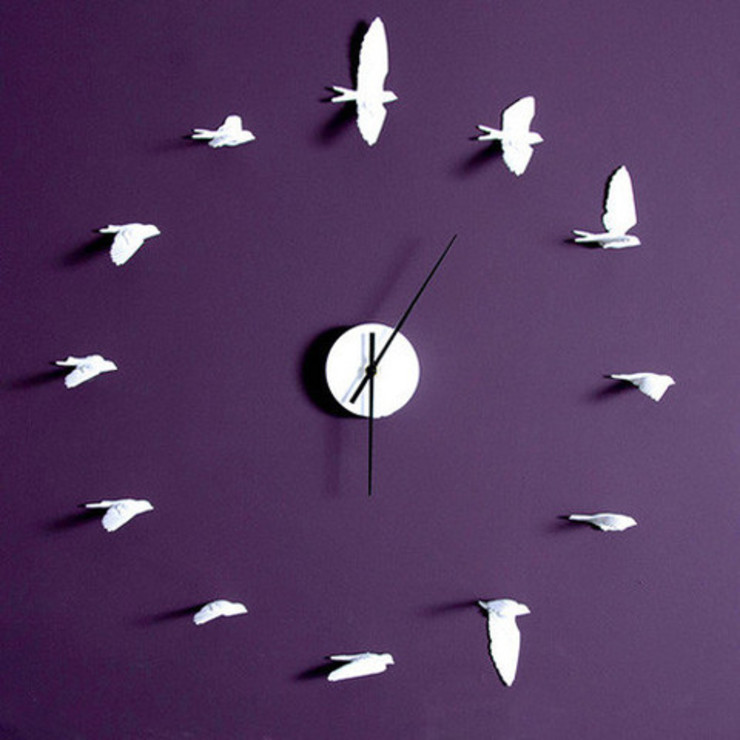 Swallow Clock Dust 家居用品配件與裝飾品 White