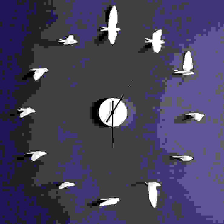 Swallow Clock Dust HogarAccesorios y decoración Blanco