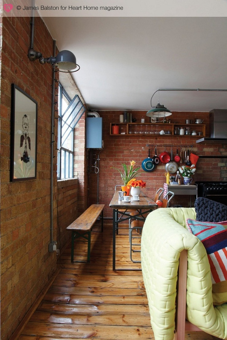 A Converted Warehouse in East London Heart Home magazine Comedores de estilo industrial