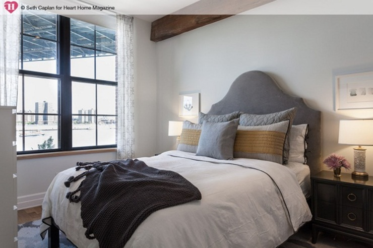 A Rented NY Apartment with a Sense of History Heart Home magazine Dormitorios de estilo industrial