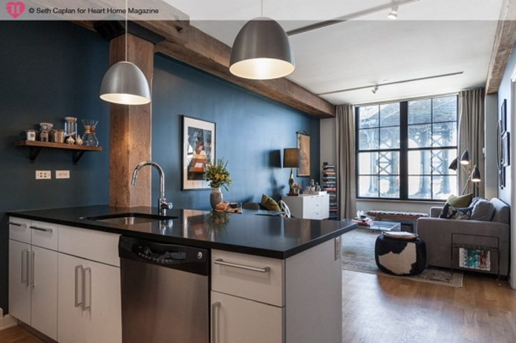 A Rented NY Apartment with a Sense of History by Heart Home magazine Industrial