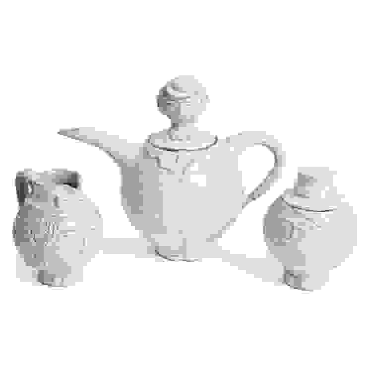 Jonathan Adler Jack Sprat tea pot Dust 家居用品配件與裝飾品 石器 White