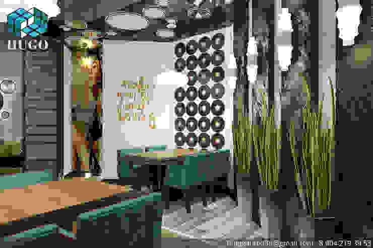 ПРОЕКТ №1 Медиа комната в стиле минимализм от HUGO Минимализм Дерево Эффект древесины