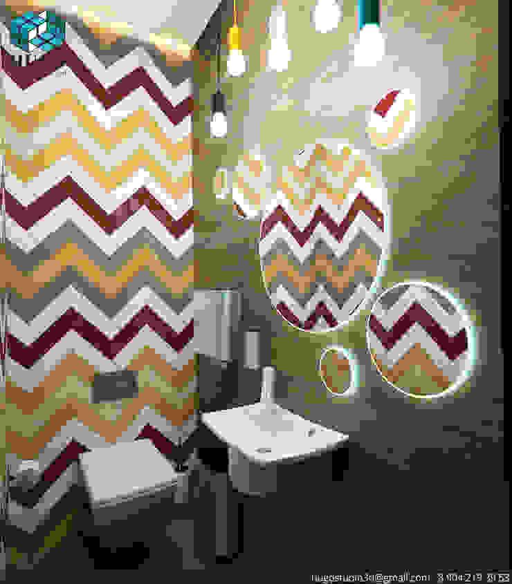 ПРОЕКТ №1 Ванная комната в стиле минимализм от HUGO Минимализм Плитка