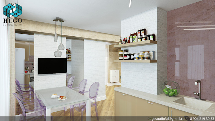ПРОЕКТ №2 Кухня в стиле минимализм от HUGO Минимализм