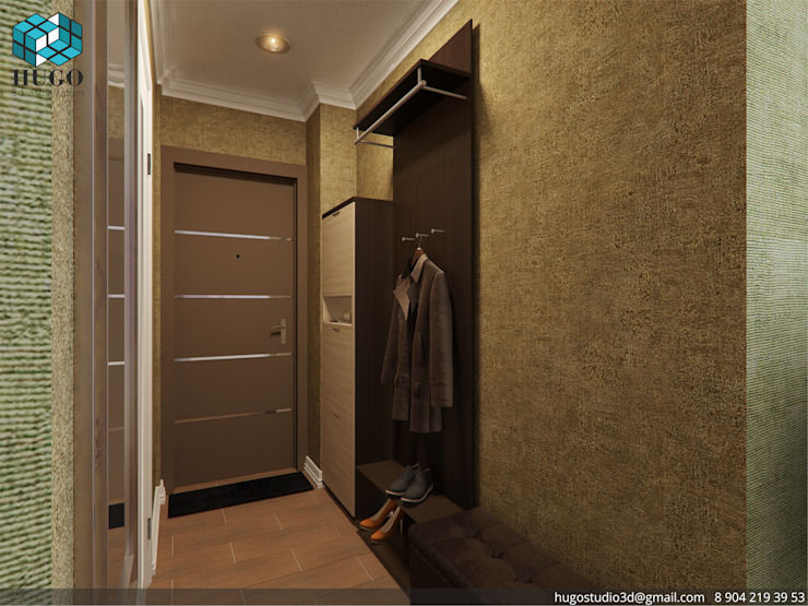 ПРОЕКТ №3 Коридор, прихожая и лестница в стиле минимализм от HUGO Минимализм