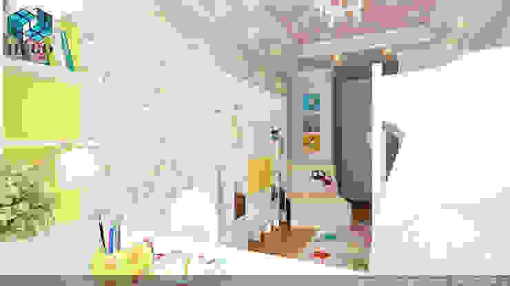 ПРОЕКТ №3 Детская комнатa в стиле минимализм от HUGO Минимализм