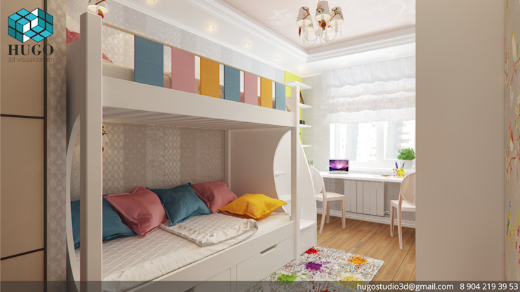 Minimalist nursery/kids room by HUGO Minimalist