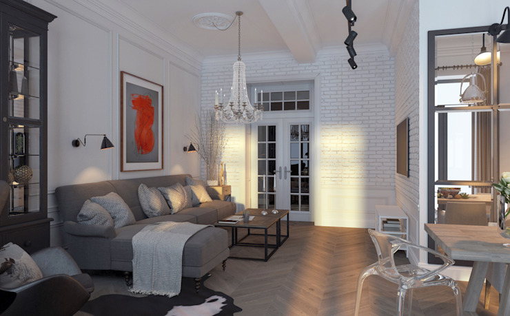 Living room by Котова Ольга, Scandinavian