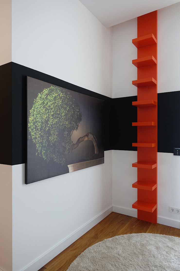 Misafir odasi Modern Duvar & Zemin J.Design Modern