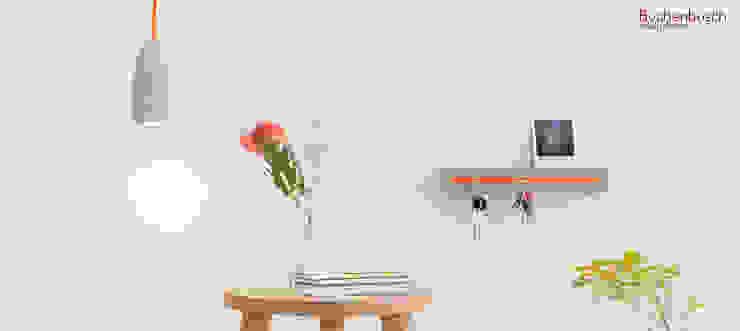"""Betonlampe """"Orange"""" Buchenbusch urban design Flur, Diele & TreppenhausAufbewahrungen"""