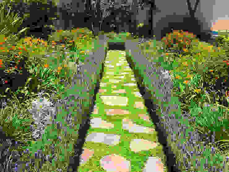 Jardin de Flores Terra Jardines de estilo moderno