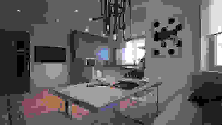 CONCRETE HOME Гостиная в стиле модерн от Алена Булатая Модерн
