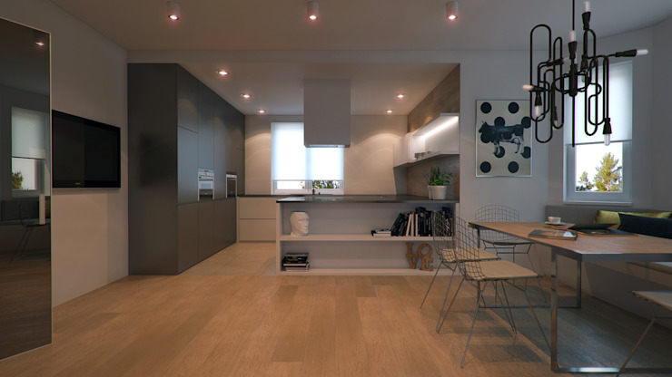 CONCRETE HOME Кухня в стиле модерн от Алена Булатая Модерн