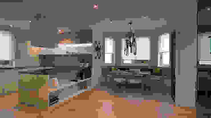 CONCRETE HOME Столовая комната в стиле модерн от Алена Булатая Модерн