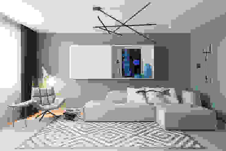 Salas modernas de Алена Булатая Moderno